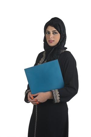 veiled: islamic executive in a business presentation scene
