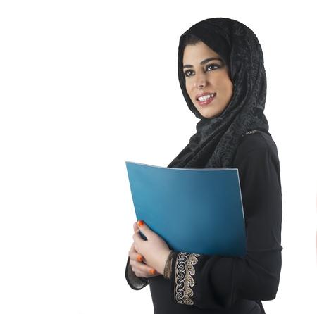 islamic executive in a business presentation scene