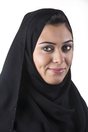 beautiful arabian lady wearing hijab  photo