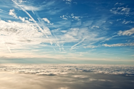 heavenly view of sky   clouds from a jet plane  Stock Photo - 13655285
