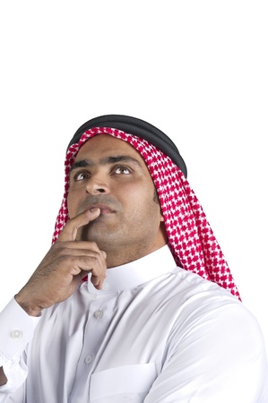 traditional arabian businessman thinking with space for text Imagens - 13659196
