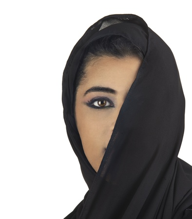 middle eastern clothes: beautiful stylish islamic girl wearing hijab  Stock Photo
