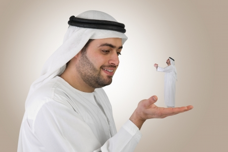arabian business man in a communication business concept  photo