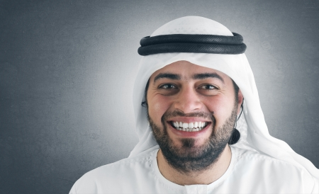 abudhabi: successful arabian businessman smiling  Stock Photo