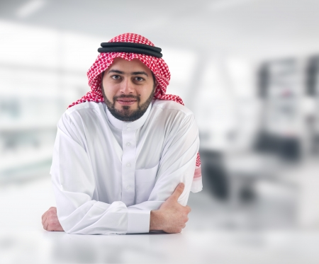 the gulf: arabian business man   executive in his office
