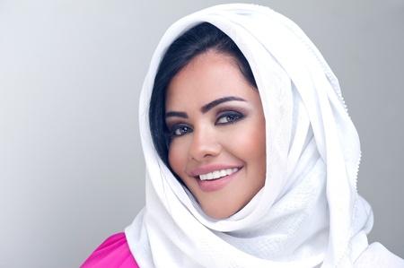 KSA: sensual portrait of a fresh beauty arabian girl with hijab