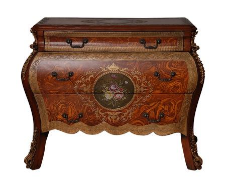 Table vintage isolée sur blanc Banque d'images - 14683459