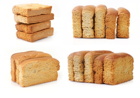 insulate: Toasted Bread isolated on white background  Stock Photo
