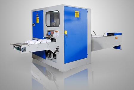 Tissue paper machine, isolated on white background   photo