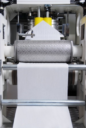 Parts and details of a printing machine   photo