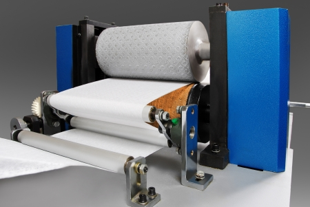 paper factory: Parts and details of a printing machine