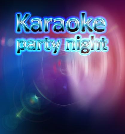 performace: Karaoke party night  Stock Photo