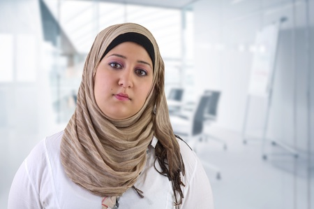 Arabian Business Woman Posing in office photo