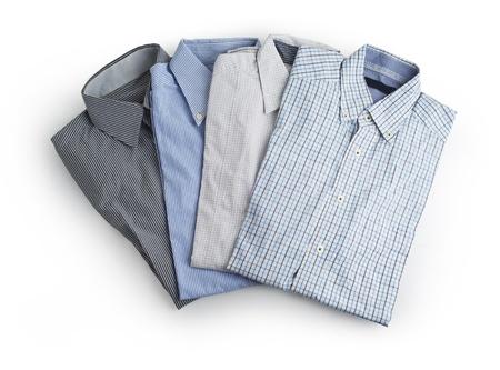 New Men s Shirt Isolated on white  Standard-Bild
