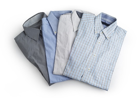 dry cleaned: Shirt uomini Nuovi s Isolato su sfondo bianco