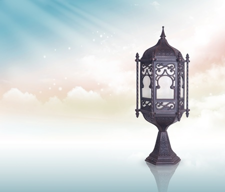 Ramadan Lamp greeting concept  Imagens