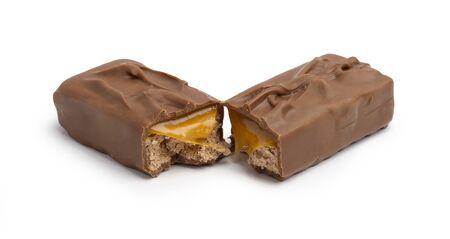 Chocolate Caramel Isolated on White Stock Photo - 16570919