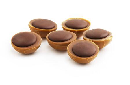 Chocolate Caramel Isolated on White Stock Photo - 16570917