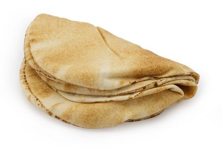 pita: Stack of Pita Bread, Lebanese bread  Stock Photo