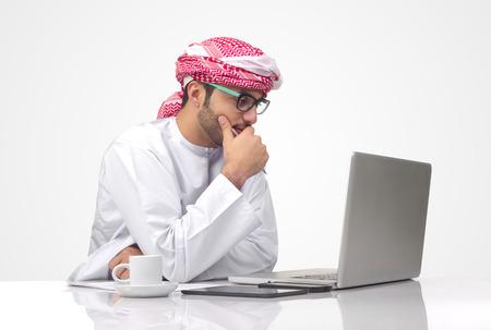 Arabian businessman working in office