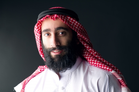 arab people: arabic businessman with beard Stock Photo