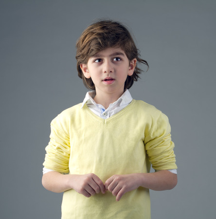 Portrait of a handsome young boy isolated Stock Photo - 25067163