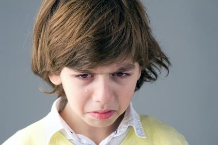 Beautiful young child crying photo