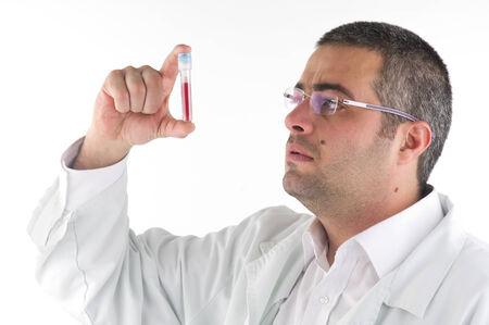 portrait of a doctor diagnosing a blood test photo