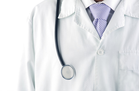 Close-up of a doctor with a stethoscope photo