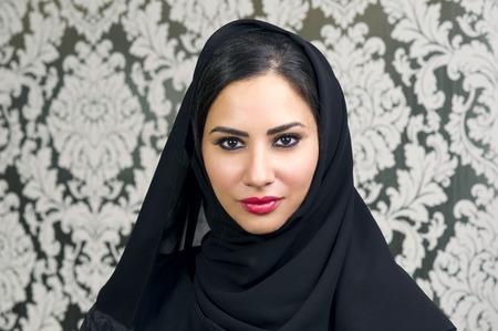 Portrait of a Beautiful Arabian Woman smiling Standard-Bild