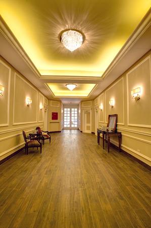 Luxurious corridor in a hotel photo
