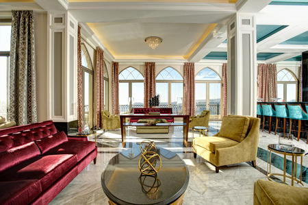 Luxury lobby for five stars hotel