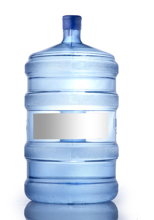 gallon: A large bottle of pure water on a white background, Water Bottle Mockup