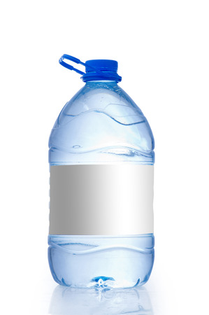 gallon: Water bottle Gallon with an empty Tag isolated on white background, Water Bottle Mockup