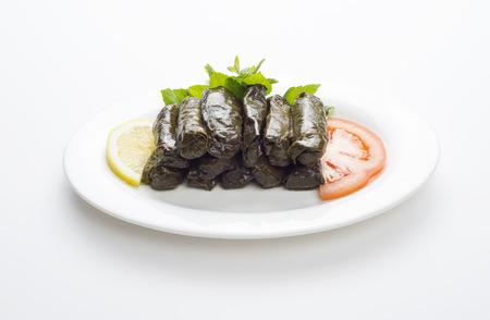 comida arabe: Hojas de parra rellenas, cocina libanesa