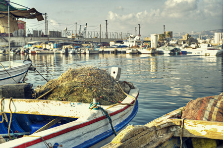 hdr: Dramatic Scene of Fishing Boats in HDR