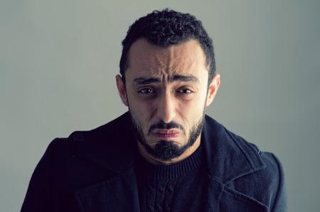 Man with sad expression photo