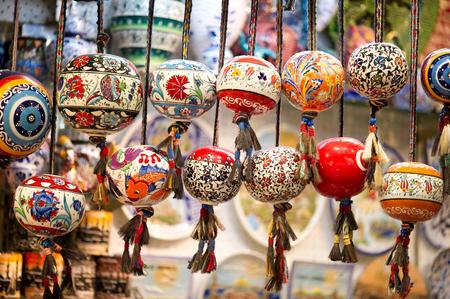 kapalicarsi: Orinetal Beads Hanged in Grand Bazaar, Istanbul, Turkey