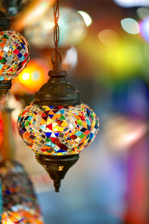grand sale: lamps for sale on Grand Bazaar at Istanbul, Turkey