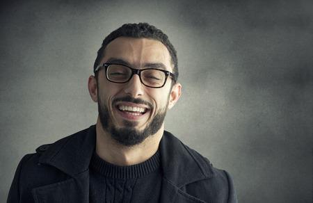 uomo felice: Felice l'uomo sorridente
