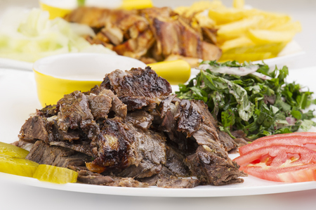 meat food: Shawarma Plate , Shawarma beef and chicken plate