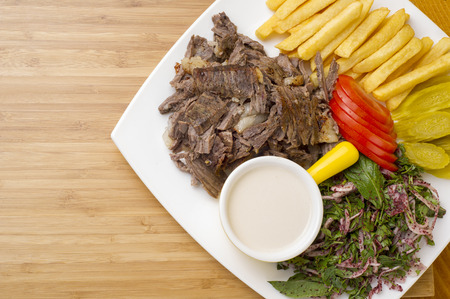 Shawarma boeuf Plate Banque d'images - 48620136