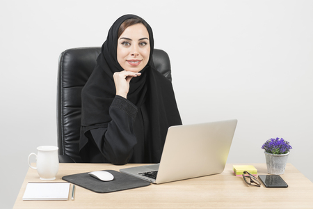 Young Arabian Businesswoman working in the office