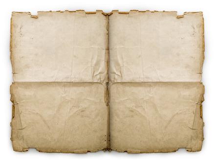old letters: Old folded vintage paper sheet