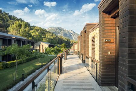 Bungalow in a luxury Resort, Resort with modern bungalows and greenery in Turkey