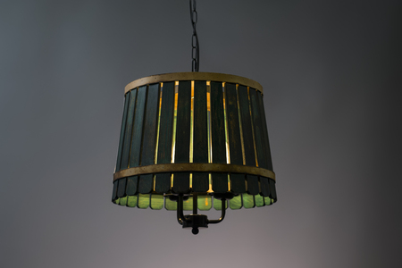 lamp shade: Wooden Pendant light lamp illuminated, Elegant Chandelier illuminated