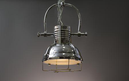 lamp shade: Pendant light lamp illuminated, Elegant Chandelier illuminated  Stock Photo