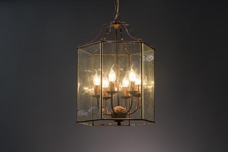 lamp shade: Rustic glass Chandelier, Elegant Chandelier illuminated