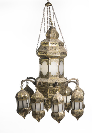 vintage chandelier isolated on white background Imagens