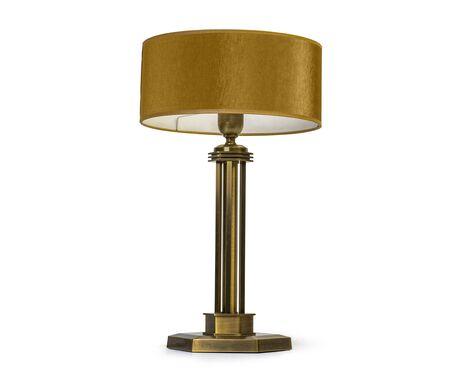 Lámpara de mesa vintage aislada sobre fondo blanco